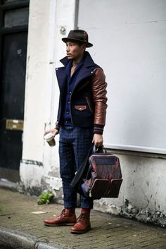 Check out this mini style guide! Men's Fashion Week Fall 2015 Street Style