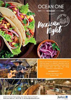 Savour the Mexican delicacies at Ocean One Beach Club & Restaurant ! Tel: 402 3700