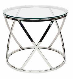 Krost Glass/Stainless Steel Side Table From Matt Blatt