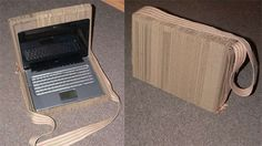 cardboard laptop case Eco DIY: recycle old cardboard boxes into a cool laptop case