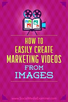 Wondering how to market with video without being in front of the camera? Have you thought about creating video from product and brand images you already have? In this article, youll find two affordable ways to create engaging videos for your business