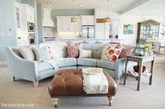 Madly in love with the couch and color scheme