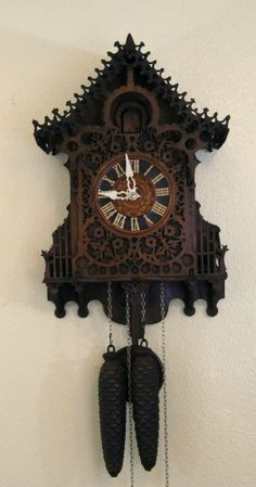 Vintage Black Forest Cuckoo Clock Details About Antique