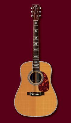 Pre-war Martin D45 guitar.