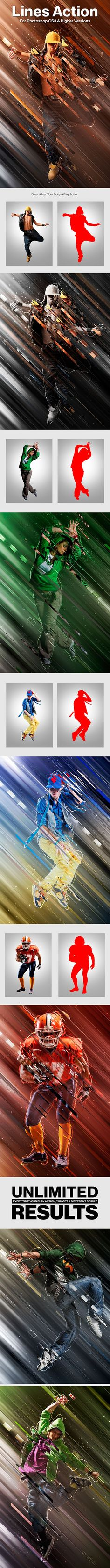Lines Photoshop Action #star #cloud • Download ➝ https://graphicriver.net/item/lines-photoshop-action/18300619?ref=pxcr