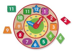 Shape Sorting Clock - shapes, colors, numbers and fun
