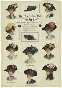"""The new velvet hat """"The Shirley."""