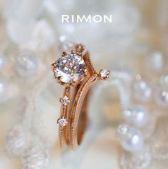 Diamond V Shaped Chevron Stacked Wedding Ring. Our vintage-inspired Diamond V-ring is designed to complement a variety of engagement rings, and bring royalty glamour into your life. #rimonfinejewelry