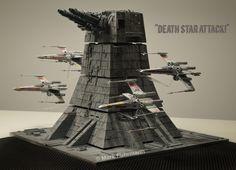 Star Wars IV Turbolaser Diorama 1:72 by Mark Fuhrmann 2016 (pattern/ example by Tony Agustin 2003)