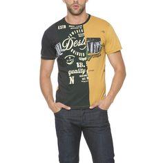 T-Shirt Desigual uomo patchwork Super T Amarillo Freesia