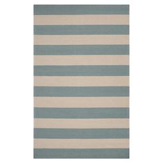 Hooked indoor/outdoor rug with a striped motif.  Product: RugConstruction Material: 100% Polypropylene