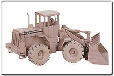 wood toy plans kits | Front End Loader (Pattern No. TJ67) - Wood Toys and Miniatures