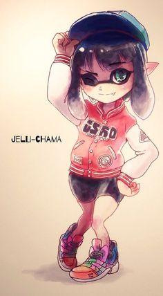 IKA GIRL by ta-ku-zou on DeviantArt Stay Fresh, Deviantart, Anime, Cartoon Movies, Anime Music, Animation, Anime Shows