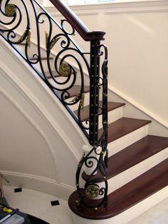 Iron Stair Railing, Staircase Railings, Staircase Design, Stairs, Ceiling Design Living Room, Bedroom False Ceiling Design, Small Patio Design, Interior Railings, Iron Gate Design