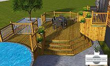 Patio et piscine 019 deck ideas pinterest patio for Plan pour deck de piscine