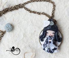 Collier poupée / fimo collier/créatif/Gypsy par ZingaraCreativa