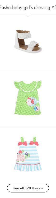 """Sasha baby girl's dressing #8"" by zsugabubus ❤ liked on Polyvore featuring intimates, shapewear, shoes, sandals, fringe shoes, sport sandals, bohemian sandals, sports shoes, bohemian style shoes and baby"