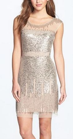 beautiful beaded sheath dress