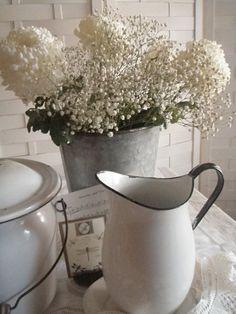 enamelware ... white with black