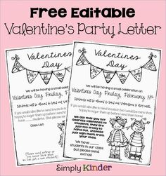 Stress Free Valentine's Party + Editable Letter Freebie