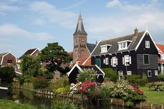 Marken, Netherlands is a small island community in the IJsselmeer.