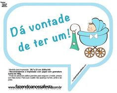 Plaquinhas Divertidas Chá de Bebê Menino 15