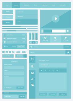 15 of the Best Free Minimalist and Flat UI Design Kits