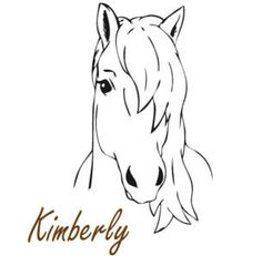 This personalized horse pony decal measures 28 X 40 inches when assembled as on the ad. You can choose the color of the pony, and the color and