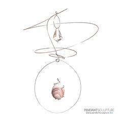 Artwork n.71 - Size: 34x32 cm - Materials: Stainless steel, glass and marble.   Opera n°71 - Dimensioni: 34x32cm - Materiali: Acciaio inossidabile, vetro e marmo.   http://www.pendantsculpture.eu