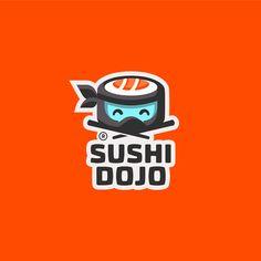 Sushi Dojo by Food Branding, Logo Food, Branding Design, Dojo, Sushi Logo, Logo Minimalista, Logo Sketches, Best Logo Design, Graphic Design