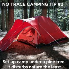 Most of us would agree that nature can offer an escape from day-to-day life. These no trace camping tips will improve your next camping trip. Camping Spots, Tent Camping, Camping Gear, Camping Hacks, Backpacking, Camping World, Family Camping, Outdoor Life, Outdoor Gear
