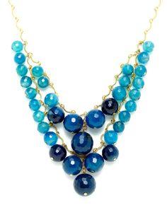 Design Inspiration: Blue Bead Bib Necklace by David Aubrey at Gilt