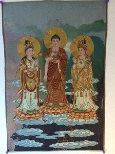 Shakyamuni Buddha with Two Disciples   Explosion Luck   Feng Shui Paintings & Buddhist Art #FengShui #art