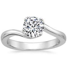 18K White Gold Seacrest Ring, top view