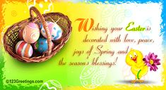 card sentiments   Easter Basket... Free Gifts eCards, Greeting Cards   123 Greetings