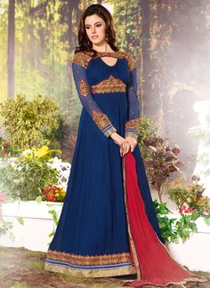 http://www.sareesaga.in/index.php?route=product/product&product_id=21805 Work:Embroidered Resham WorkStyle:Anarkali Suit Shipping Time:10 to 12 DaysOccasion:Party Festival Fabric:GeorgetteColour:Blue For Inquiry Or Any Query Related To Product, Contact :- +91-9825192886, +91-7405449283