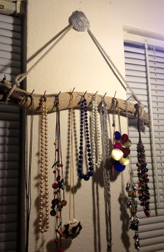 ~DIY necklace holder made from driftwood