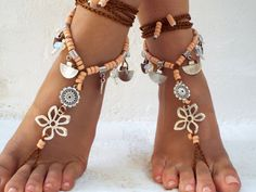 PROMO SALE Barefoot Sandals Barefoot Beach  seaside  Jewelry barefoot sandal, Hippie Sandals Foot Jewelry Toe Thong