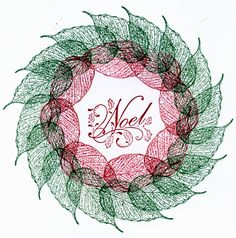 Leaf Wreath made using the Inkadinkadoo Stamp System