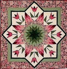 """Spring Star"" by Roxanne Carter.....i want to do a quilt so bad....no time like…"