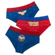 Wonder Woman Foil Print 3-Pack Panties