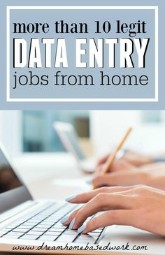 More Than 10 Places To Find Legitimate At Home Data Entry or Typing Jobs