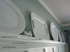 plate rail molding   How To: Update a Room with Trim   Our Humble Abode