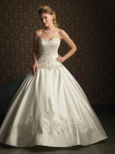 Ivory Wedding Dresses | Ivory Beaded Embroidery Satin Ball Gown Formal 2011 Wedding Dress ...