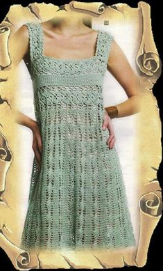 Dress pattern to crochet for women and girl pattern international chart in photo (not d written explanation) pdf format
