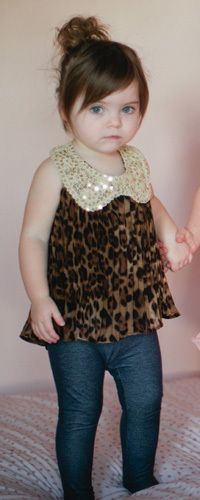 Lovely Leopard Tank!!! It's sooo cUte!! Nobilei would look so cute in this!!