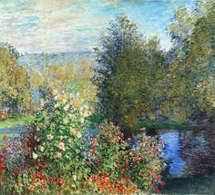 Corner of the Garden at Montgeron. By Claude Monet