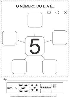 Atividades com os numerais de 1 a 5 Corte e Recorte Educativo
