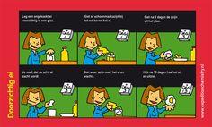 Los de schaal van een ei op in schoonmaakazijn.