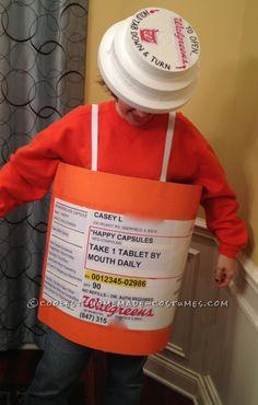 Original Homemade Prescription Bottle Costume ... This website is the Pinterest of costumes